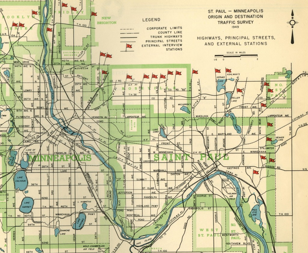 St. Paul – Minneapolis Traffic Survey, 1950