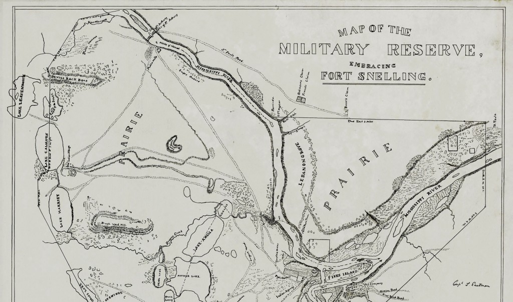 Fort Snelling Map, 1839