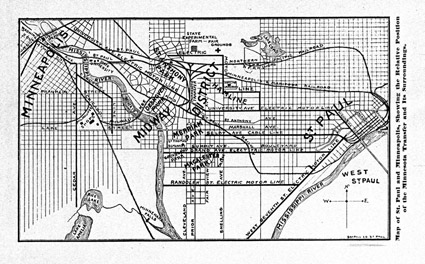 Minnesota Transfer Map, 1890